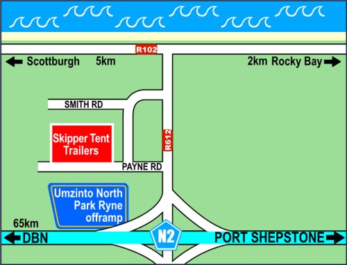 Map to Skipper Tent Trailers